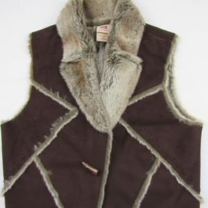 Faded Glory Vest Faux Fur Size Small (4/6)